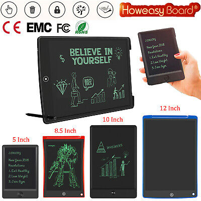 Electronic Digital LCD Writing Tablet 5'' 8.5'' 10'' 12'' DIY Drawing Memo Board