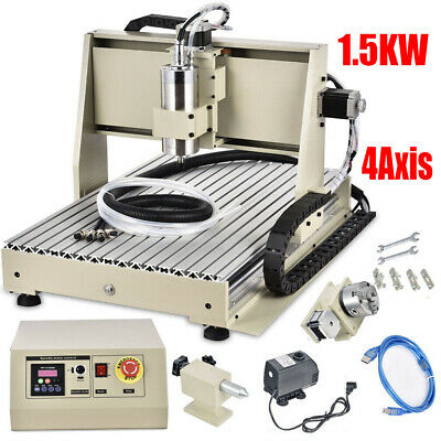 4AXIS USB CNC Router 6040 Engraver Machine Milling Woodworking 3D Carving 1500W