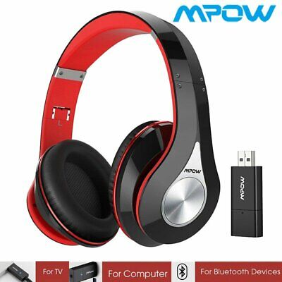 Mpow Foldable On-Ear Stereo Wireless Bluetooth Headset Headphone for TV/Phone/PC