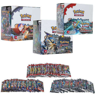 324pcs Pokemon GX TCG Booster Box Englisch Edition SUN & MOON Karten