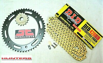 Yamaha DTR125 / DT125R DID Gold Heavy Duty Chain & JT Sprocket Kit Set