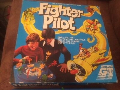 Vintage Fighter Pilot Board Game by Action GT Games ~ Very Rare