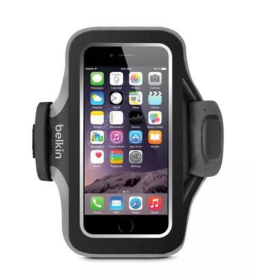 Belkin Slim-Fit Plus Armband for iPhone 6 6s Fitbit Alta Fitbit Blaze Black Gray