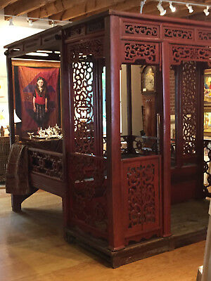 Rare 17th Century Chinese ALCOVE Wedding Bed Museum Quality Circa 1680
