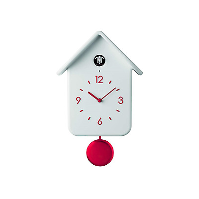 Guzzini QQ Wall Cuckoo Clock Modern Design with Pendulum White