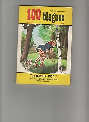 BD 100 BLAGUES  N°207 Humour Pop Editions EGE  Manel  1979