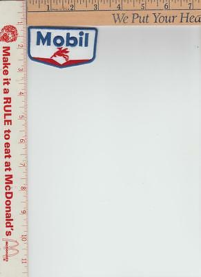 Mobil Gas 3 x 1-1/4 white background with flying horse Patch