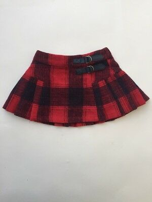 Baby Girl Tartan Skirt Mothercare 3-6 Months Red And Blue