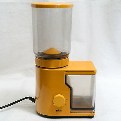 Braun Type 4036 Moulin A Cafe Orange 110W 220V Vintage 1970 Electric Coffee Mill