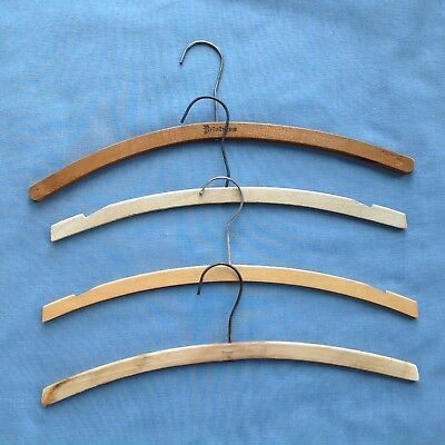 Set Of 4 Vintage Midcentury Wood Hangers