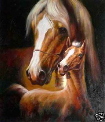 CHENPAT07 large 100% hand-painted modern two horse oil painting art on canvas