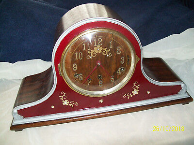 Vintage Westminster Chime Napoleon Hat Style British Mantel Clock GWO