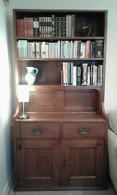 Victorian Oak Dresser Welsh Antique Cupboard Drawers Antique Bookcase