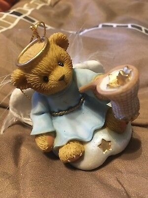 """Cherished Teddies Angel w/ Net Filled With Stars """"Hanging Ornament"""""""