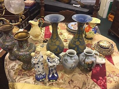 Antique Pottery Clarice Cliffe.  Cloisonné.Porcelain. Davenport Etc.**MAKE OFFER
