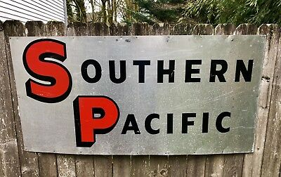 Original Southern Pacific Railroad Sign - Large