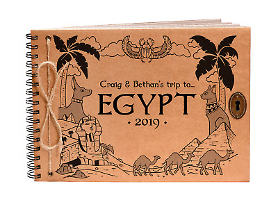 Egypt Photo Album Egyptian Scrapbook Personalised Cover Family Holiday
