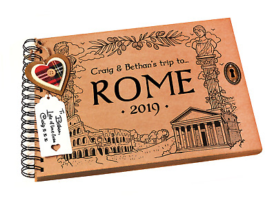 Italy Photo Album Rome Scrapbook Personalised Cover Family Holiday Keepsake