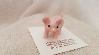 Hagen Renaker Pig Pink Figurine Miniature Gift Collect New Free Shipping 00847