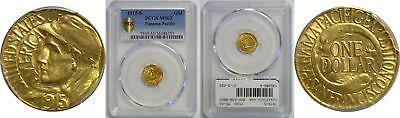 1915-S Panama-Pacific $1 Gold Commemorative PCGS MS-63