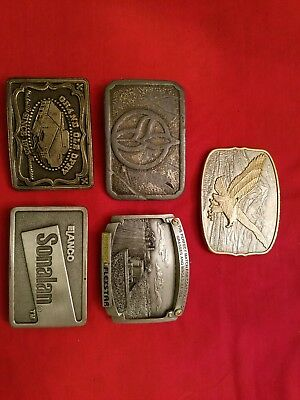 Vintage Lot Of Agriculture Belt Buckles