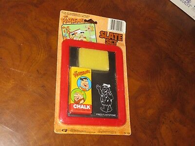 Vintage 1990 The Flinstones Slate Set Hanna Barbera Chalk Board NOS (Q116)