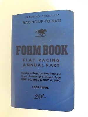 Sporting chronicle race form book 1968 issue