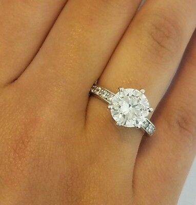 3 CT Round Diamond Solitaire Engagement Wedding Bridal Ring Solid 14K White Gold