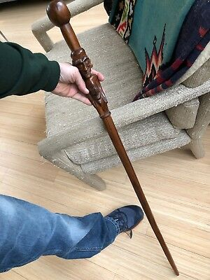 Rare Old! Ethnographic Tribal Oceanic Or African Staff Or Walking Stick