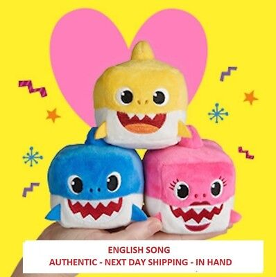 WowWee Pinkfong Shark Singing Plush Sound Cube - Baby Shark - ENGLISH - IN HAND