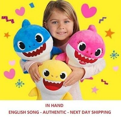 WowWee Pinkfong Shark Singing Plush Doll - Baby Shark - ENGLISH SONG - IN HAND