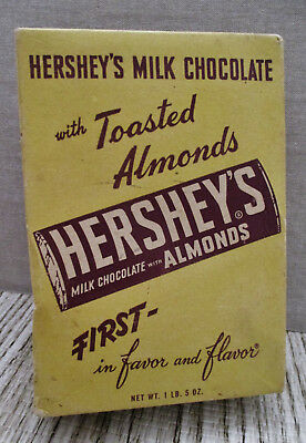 Vintage Food Advertising-HERSHEY CHOCOLATE-Almonds-Store Display-CANDY BAR BOX