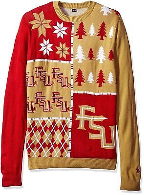 Klew Ncaa Xmas Busy Block Ugly Christmas Sweater Large Ohio