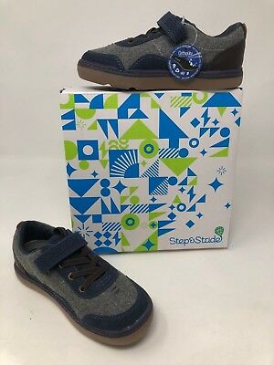 reputable site 0d399 078af New In Box Boys Toddler Step   Stride Noah Navy Med-Wide SF17202N See  photo s