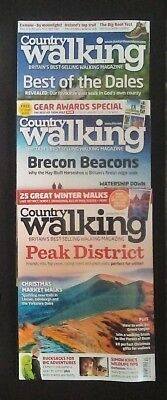 """3 x """"COUNTRY WALKING"""" MAGAZINES FROM OCTOBER, NOVEMBER AND DECEMBER 2012."""