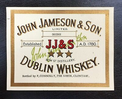 John Jameson & Son Dublin Whiskey label