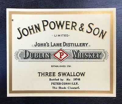 John Power & Son Dublin Whiskey label