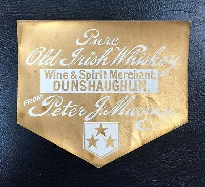 Peter J Murray Wine & Spirit Merchant Dunshaughlin Whiskey label