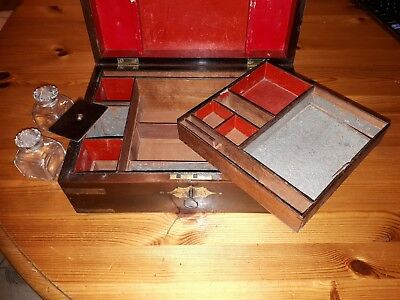 antique wooden writing box