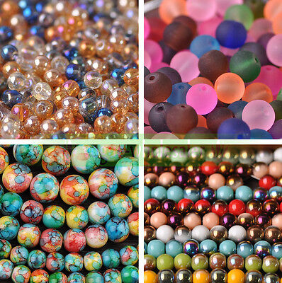 Wholesale Bulk Round Crystal Glass Loose Beads 4mm 6mm 8mm 10mm 12mm DIY Making