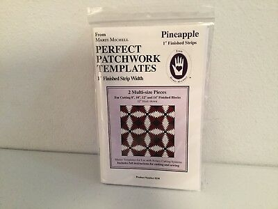 """Quilting Perfect Patchwork Templates 1"""" Finished Strips Pineapple NIP"""