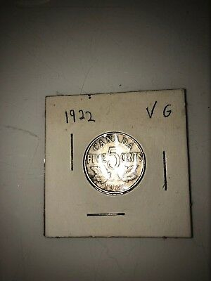 Canada 1922 5 cent coin