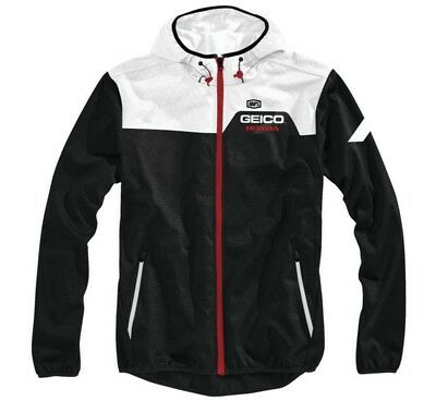100% Geico Honda Aviator Mens Jacket Black LG