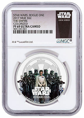 2017 Niue Star Wars: Rogue One - Empire 1 oz Silver $2 NGC PF69 UC