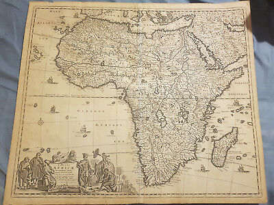 Frederick de Wit Map of Africa Totius Africae around 1690 ORIGINAL