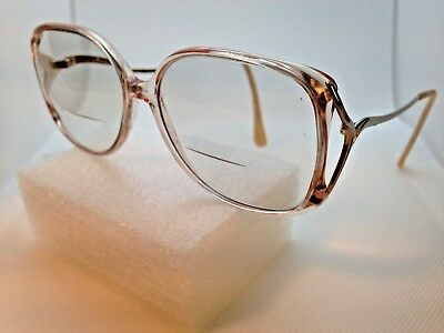 9b5ba038c2 Vintage Ladies Tura 330 PIN 54 15-130 Pink Gold Japan Eyeglass Frame  Oversize