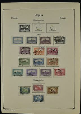 Hungary 1921-1924 Album Page Of Stamps #V7707