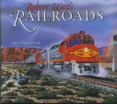 TRAINS RAILROADS WALL ART CALENDAR Railroads Robert West 2007