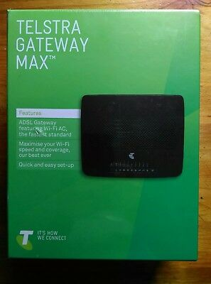 FREE POST .. Telstra Gateway Max technicolor TG799vac brand new Sealed box