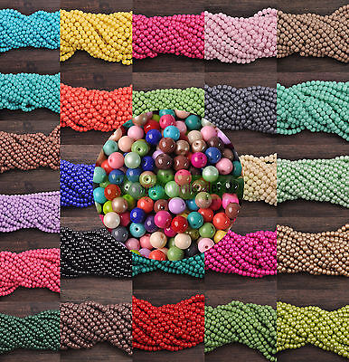 4mm Quality Czech Opaque Pure Color Glass Smooth Round Loose Spacer Beads Making
